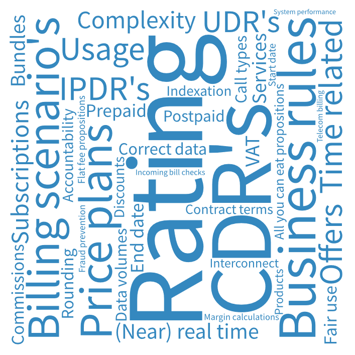Billing process optimization: rating