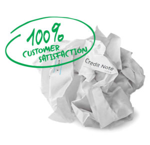 Credit note customer satisfaction